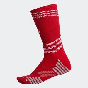 🆕 Adidas Speed Mesh Athletic Crew Socks Red